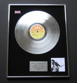 BRUCE SPRINGSTEEN - Born To Run PLATINUM LP PRESENTATION DISC